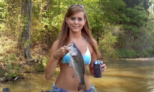 fishing pictures women beer