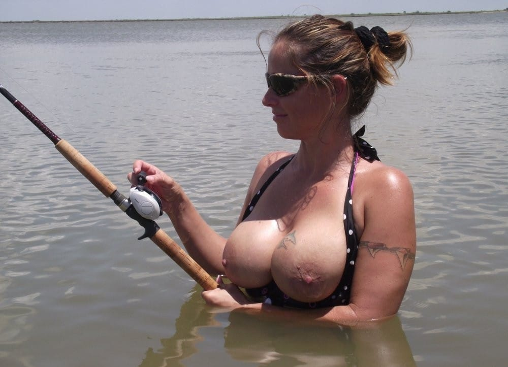 sexy women fishing and hunting