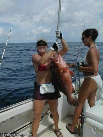 Hot girls playing the the Snapper they caught