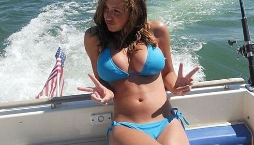 hot girl bikini fishing